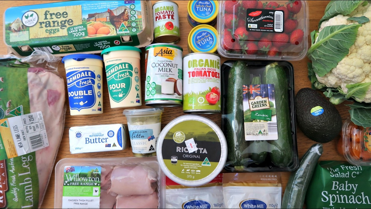 Low Carb Aldi Grocery Haul - YouTube
