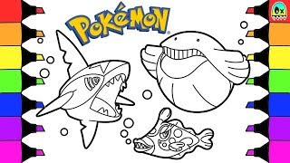 Pokemon Coloring Pages Sharpedo and Wailmer Colouring Book Fun for Kids