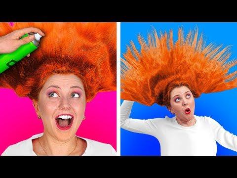 РЕШАЮЩИЙ ЧЕЛЛЕНДЖ «100 СЛОЕВ» || 100 слоев лака для волос || Все в 100 слоев от 123 GO! CHALLENGE