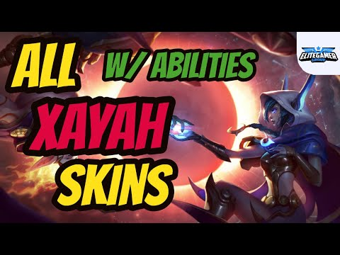 All Xayah Skins Ability Spotlight - League of Legends Skin Review