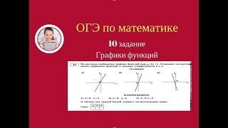 10 задание ОГЭ по математике.Графики функций