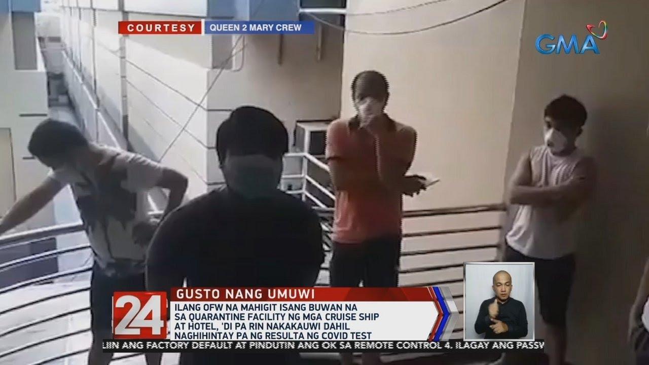 24 Oras: Ilang OFW na mahigit isang buwan na sa quarantine facility ng mga cruise ship at hotel...