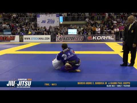 European Open 2015 Black Belt FINALS: Adult Male - Feather (Márcio Barbosa Jr. vs. Gianni Grippo)