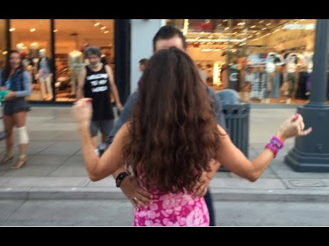 Dr Elizabeth, Annie and Erez's Sexy Salsa Dance at the Third Street Promenade