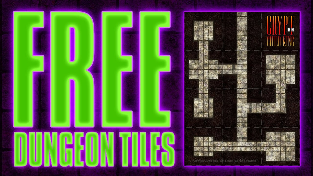 Free Dungeon Tiles (#1) PDF from Master Set(s) | D&D Miniatures RPG Map  Tiles Free