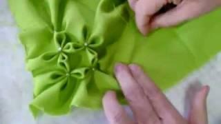 خياطة   طريقة عمل مخدة وسادة مزركشة للعروسة ٢من٣