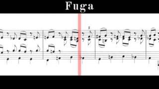 BWV 998 - Prelude, Fugue & Allegro in E-flat Major (Scrolling)