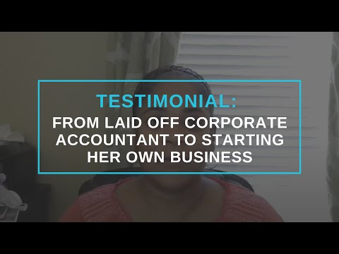 Angie Toney Reviews Andrew Argue: From Laid Off Corporate Accountant To Starting Her Own Business
