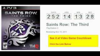 Saints Row The Third PS3 Countdown