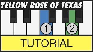 The Yellow Rose of Texas - Very Easy Piano Tutorial