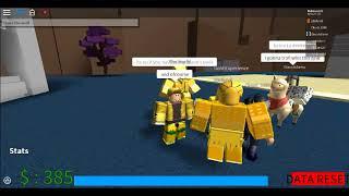Showing Gold Experience in Jojo Bizarre Roblox Adventure