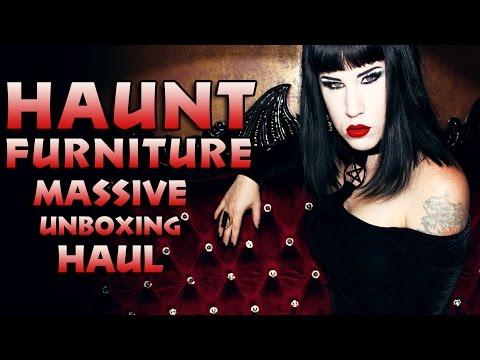 Gothic Furniture Haul | My Unboxing of a MASSIVE Haunt Furniture Order! | Avelina De Moray