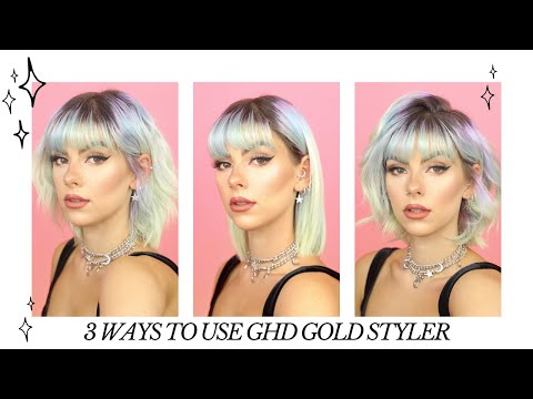 3-ways-to-use-the-ghd-gold-styler-|-straight-hair,-waves-&-bouncy-curls-|-ad