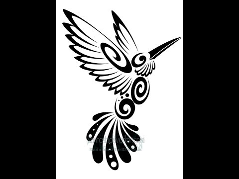How to draw a tribal BIRD with sketch by RKS tribal Drawing