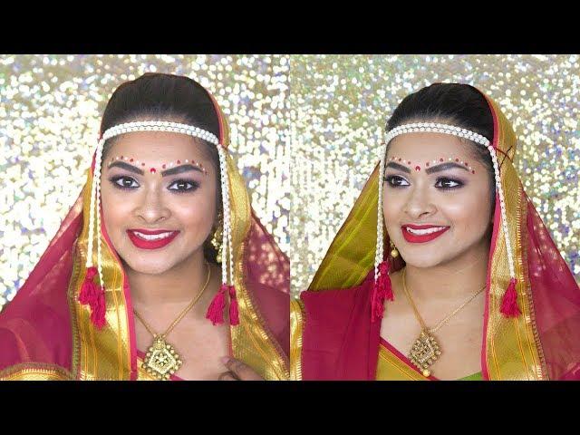 Indian Desi | Marathi Bride Make-up Look | Shradysstyle