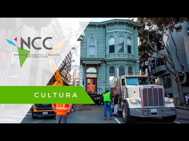 Una casa victoriana recorre las calles de San Francisco