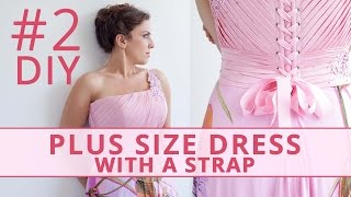 Sew Plus Size Dress with a Strap and Drapery. Part 2