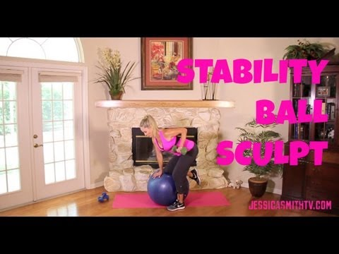 Exercise, Exercise Ball: Free Full Length Workout Video -- Stability Ball Sculpt