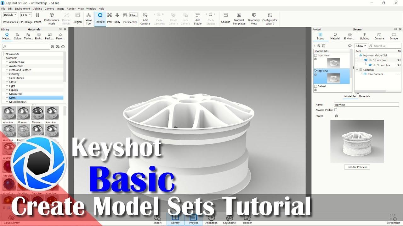Create Multiple Model Sets Tutorial In Keyshot For Beginner