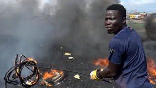 Inside Ghana's 'graveyard' for Europe's e-waste