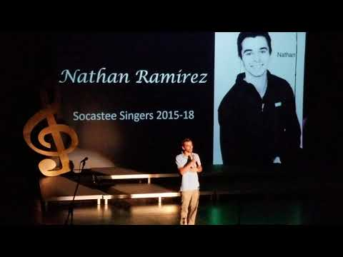Nathan's last singers performance in Socastee high school.