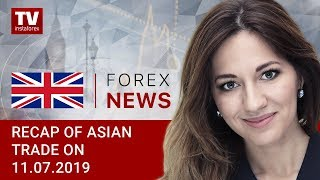 InstaForex tv news: 11.07.2019: Powell's comments boost risk appetite, USD declines (USDX, JPY, AUD)