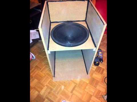 fabrication caisson de basse youtube. Black Bedroom Furniture Sets. Home Design Ideas