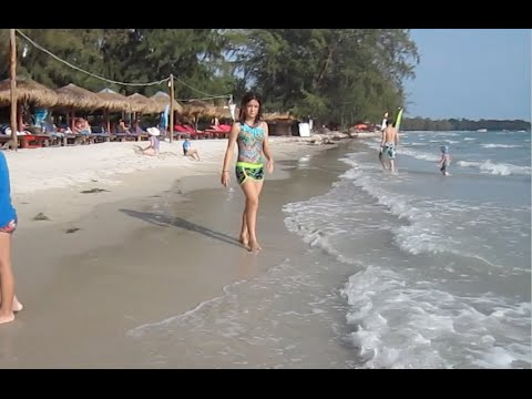 Otres Beach at Sihanoukville province, the Kingdom of Cambodia