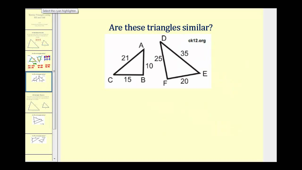 Similar Triangles (video lessons, examples and step-by-step solutions) Intended For Proving Triangles Similar Worksheet
