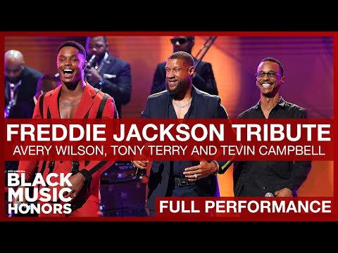 Avery Wilson, Tony Terry And Tevin Campbell Tribute To Freddie Jackson | Black Music Honors