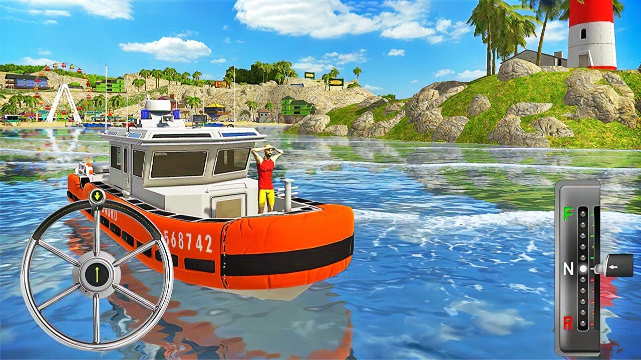 Lifeguard Rescue Boat Driving - Coast Guard Beach Rescue Team - Android Gameplay