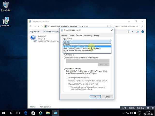 Windows 10 PrivateVPN L2TP - How to install
