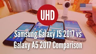Samsung Galaxy J5 2017 vs Galaxy A5 2017 Comparison