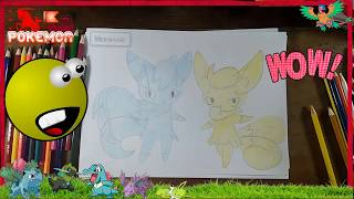 How to draw Meowstic Pokemon drawing lessons art for kids Kids Drawing Tutorial