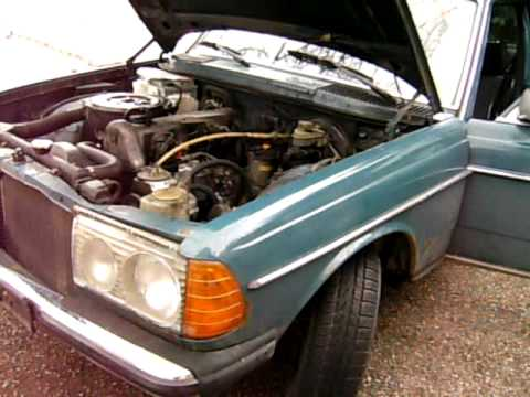 mercedes benz w123 123 300 dizel 1981 - youtube