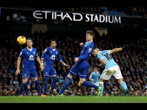 Manchester City 3-1 Everton | Goals: Aguero, De Bruyne, Fernandinho, Barkley