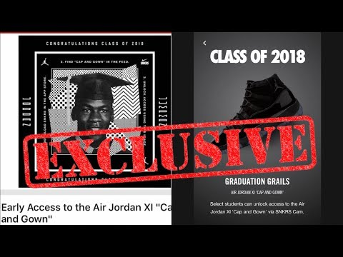 72c574703387 EARLY ACCESS RELEASE FOR THE JORDAN 11 CAP   GOWN