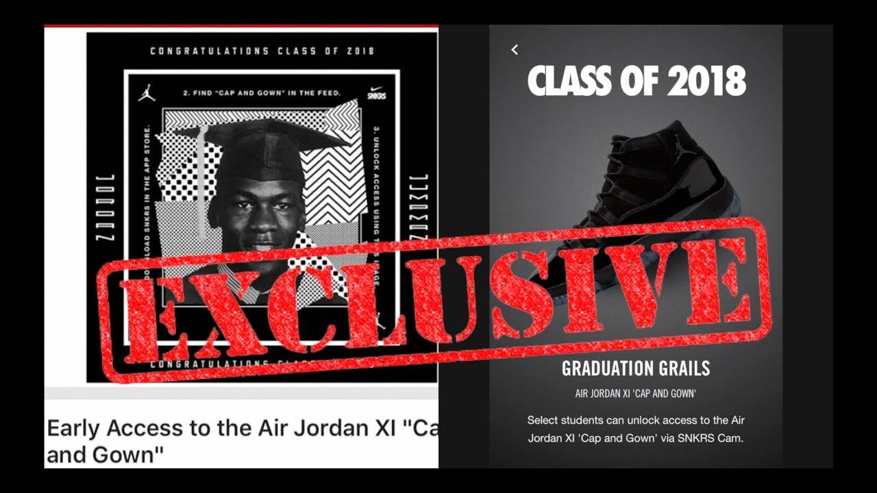 50 Price 8d404 4c9ac Jordan Brand Cap And Gown 11s Prom Night