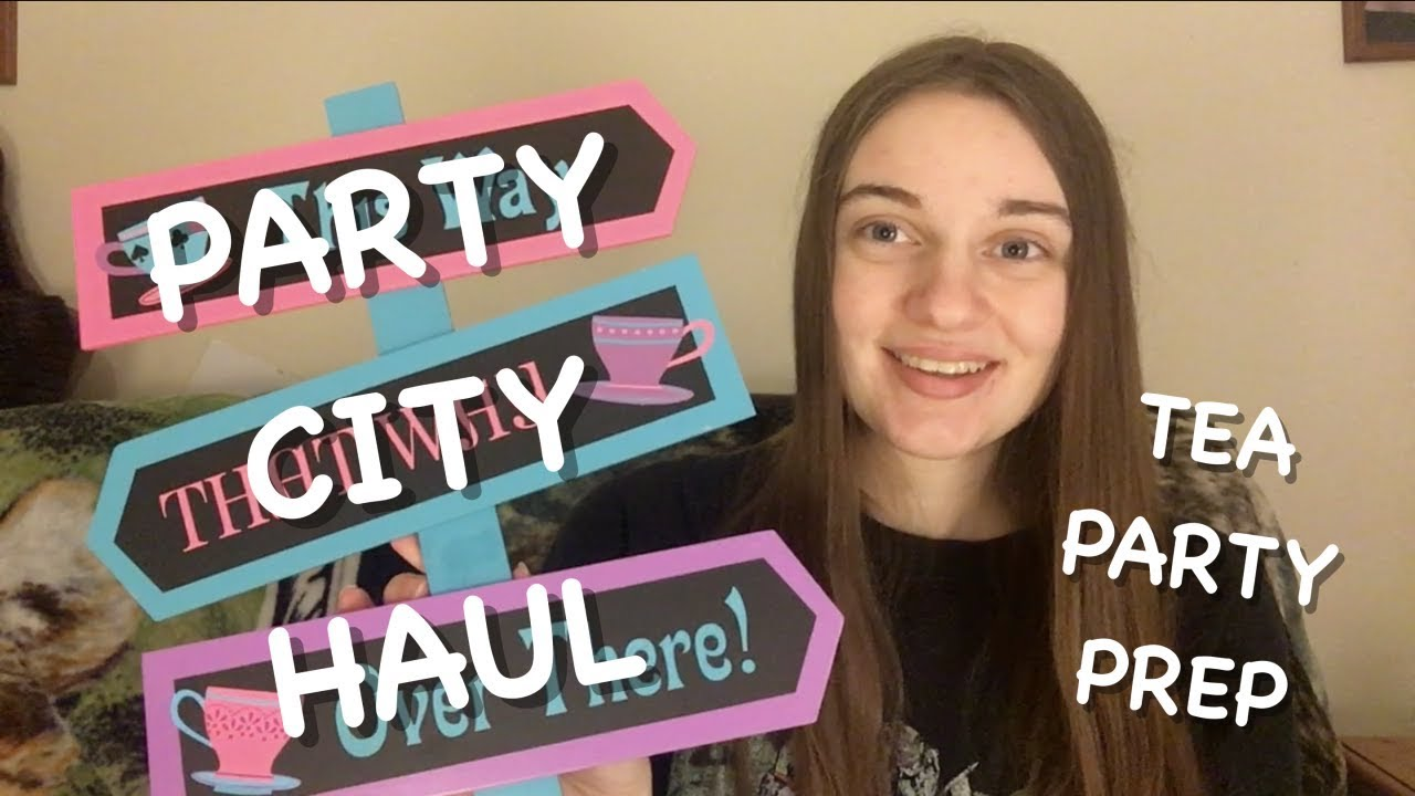 ALICE IN WONDERLAND TEA PARTY Party City Haul YouTube