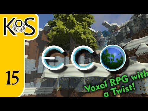 Eco Ep 15: IMPROMPTU FARMS & FIRST ROAD USAGE - Voxel Builder/RPG - Let's Play, Gameplay