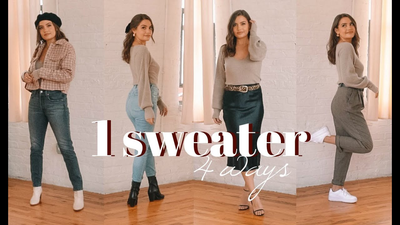 [VIDEO] - 1 Sweater, 4 Ways | Easy Outfit Ideas 1