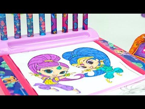 видео: Шиммер и Шайн раскраски, игрушки и сюрпризы