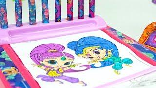 Шиммер и Шайн раскраски, игрушки и сюрпризы