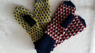 Вязание спицами. Варежки на 5 спицах