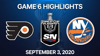 NHL Highlights | 2nd Round, Game 6: Flyers vs. Islanders - Sept 3, 2020