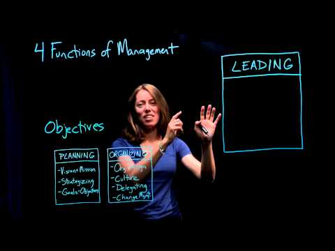 Leadership and Management | Part 3 of 4:The Four Functions of Management