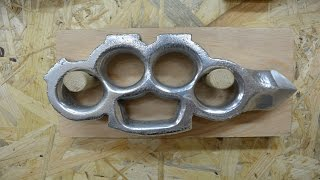BUILD VIDEO: Casting aluminum KNUCKLES with a SKULL CRACKER