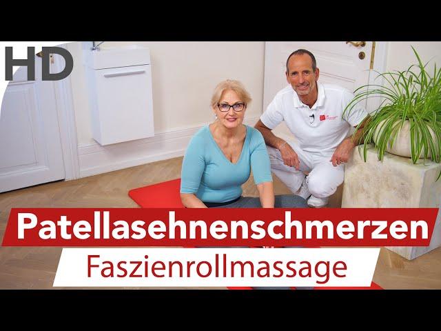 Patellasehnen - Syndrom | Faszienrollmassage | Knieschmerzen, Patellasehnenschmerzen