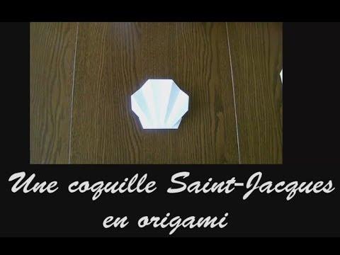 Origami Réaliser Une Coquille Saint Jacques Tutoriel Youtube