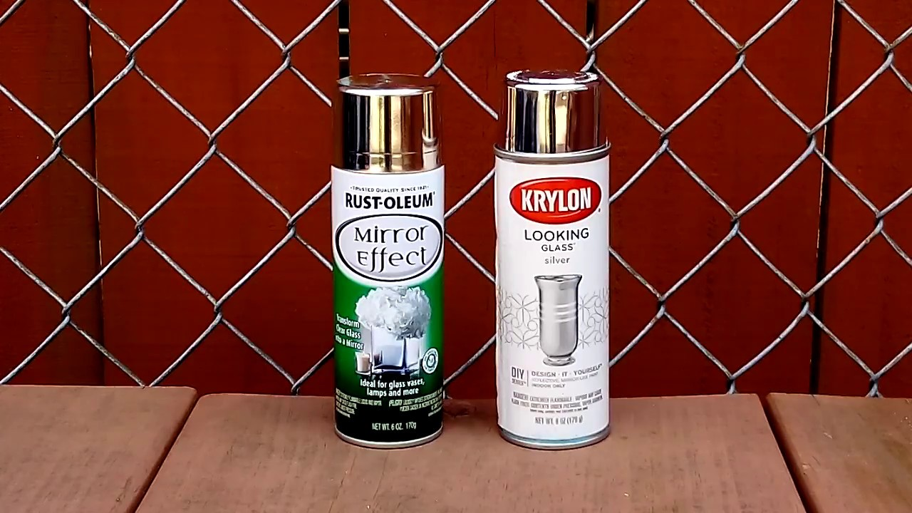 Krylon Vs Rustoleum Mirror Spray Paint Comparison Youtube